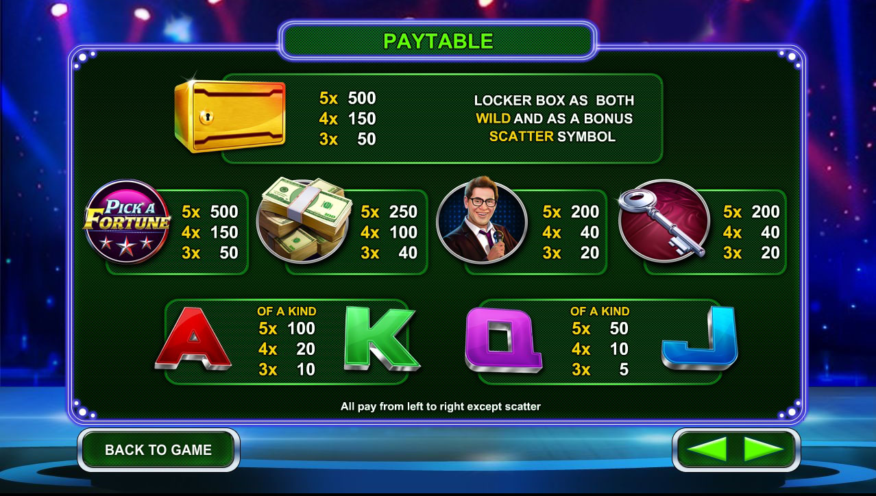 Pick-a-fortune_Info-screen